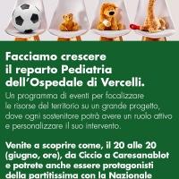 Un Gol Per La Pediatria Di Vercelli