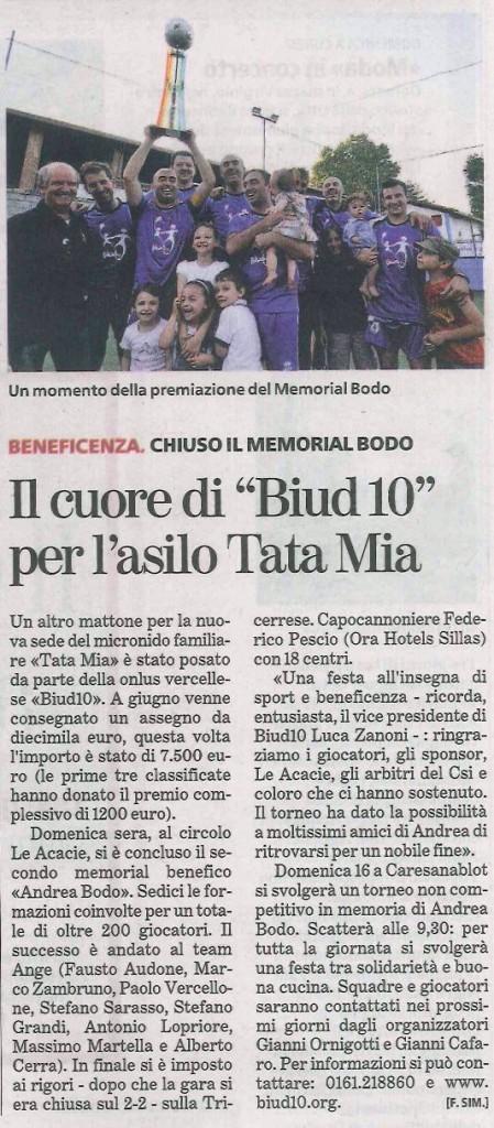 Articolo uscito su La Stampa 05-07-2011