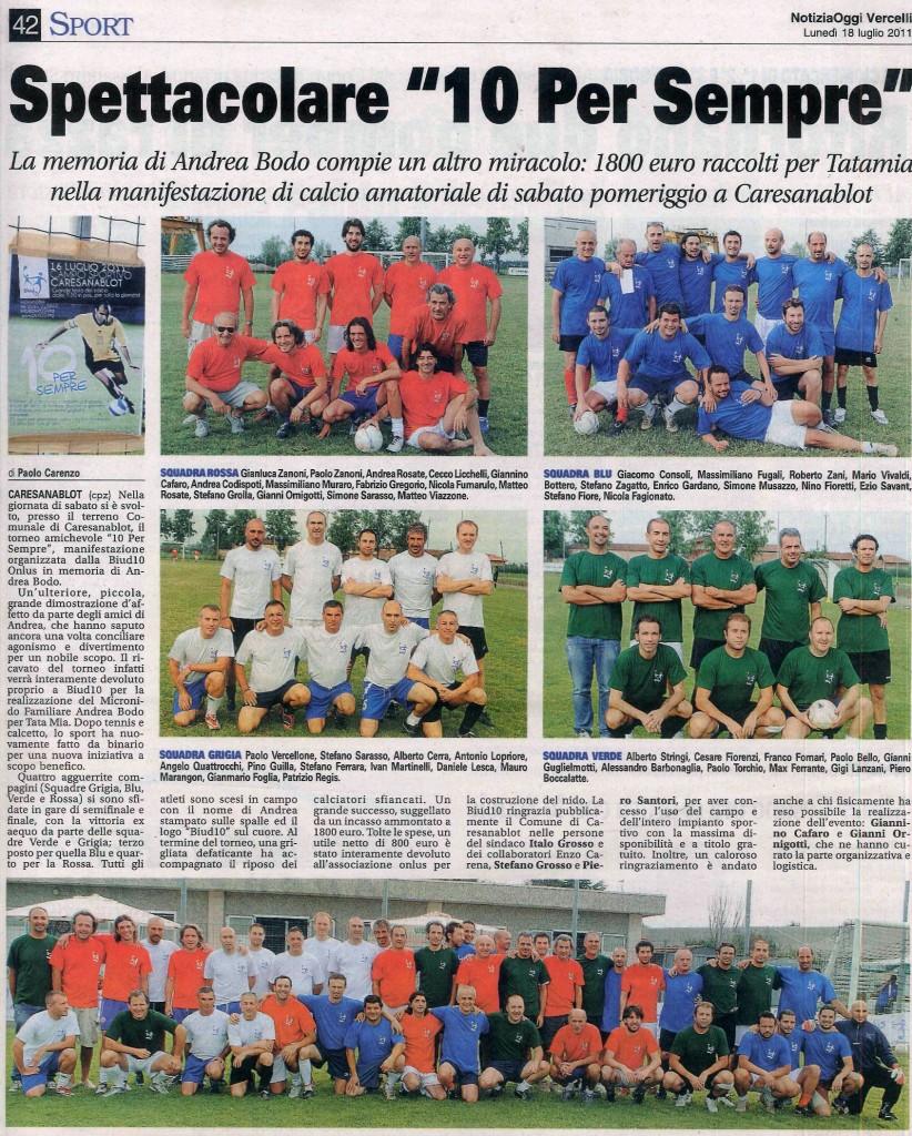 Articolo uscito su Notizia Oggi del 18/07/2011