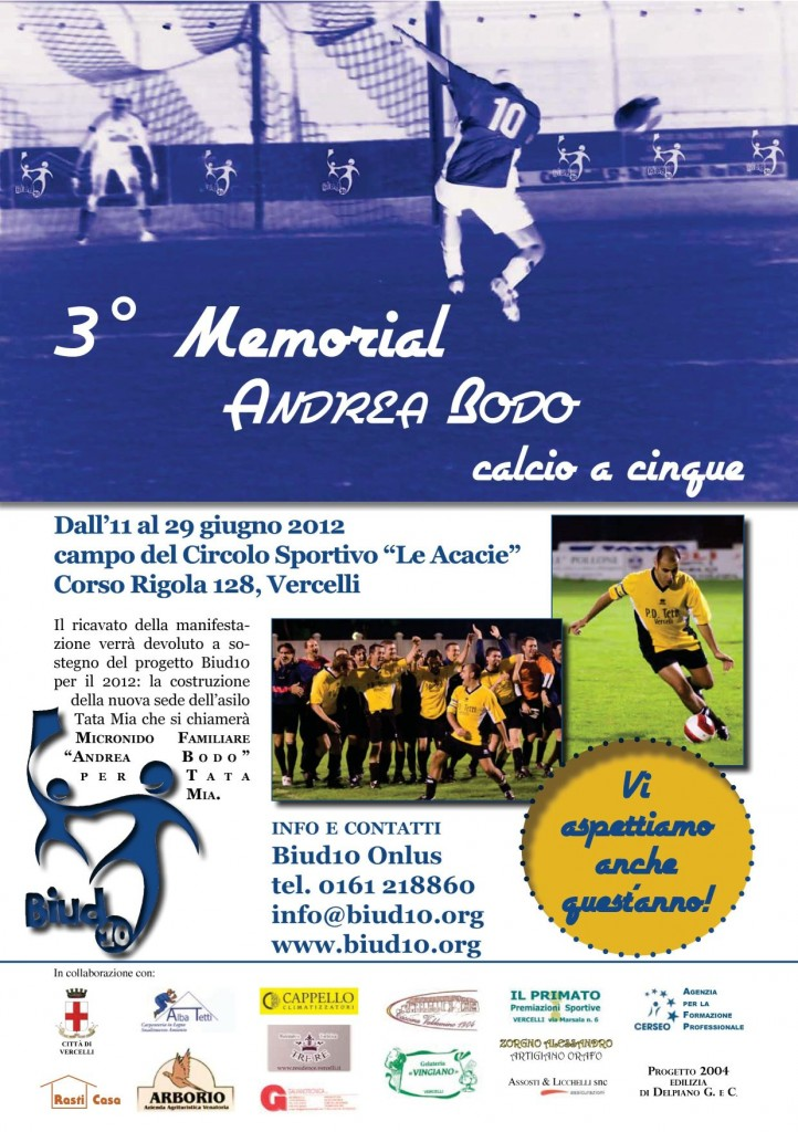 3 memorial Andrea Bodo calcio a 5