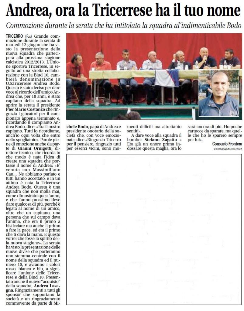 Articolo Notizia Oggi 18-06-2012